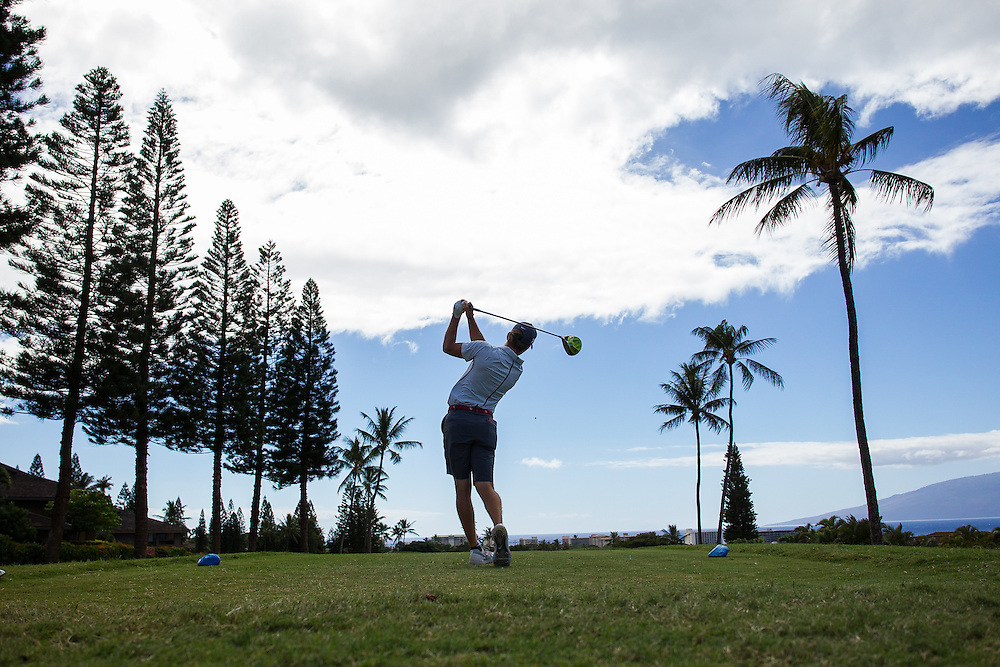 during the final round of the 3rd annual Kaanapali Classic collegiate invitational. Kaanapali Royal Course Lahaina, Hawaii November 5th, 2016/ Photo by Aric Becker