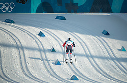 February 25, 2018 - Pyeongchang, South Korea - Marit Bjoergen of Norwayrqces to the finish during the Ladies Cross Country Skiing Mass Start 30k at the PyeongChang 2018 Winter Olympic Games at Alpensia Cross-Country Skiing Centre on Sunday February 25, 2018. .Marit Bjoergen won the eighth gold medal of her career in the ladies' 30km mass start classic, the final event of the Games. After another multi-medal haul here, the illustrious veteran of five Games leaves PyeongChang as the most decorated Winter Olympian in history with a total of 15 medals: she has four silver and three bronze as well as her eight gold. (Credit Image: © Paul Kitagaki Jr. via ZUMA Wire)