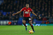 Luis Antonio Valencia of Manchester United in action. Premier league match, Everton v Manchester United at Goodison Park in Liverpool, Merseyside on Sunday 4th December 2016.<br /> pic by Chris Stading, Andrew Orchard sports photography.