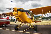 Yellow Swan at Wings and Wheels at Oregon Aviation Historical Sociery.