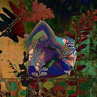 In the garden of the inner self. Deep yoga backbend.