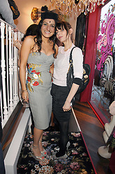 Left to right, party host GEORGINA HAMED and JEMIMA FRENCH at the launch party for the shop 'Lost in Beauty' 117 Regents Park Road, London NW1 on 22nd April 2008.<br /><br />NON EXCLUSIVE - WORLD RIGHTS