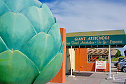 Giant artichoke at the Giant Artichoke Restaurant, Castroville, California