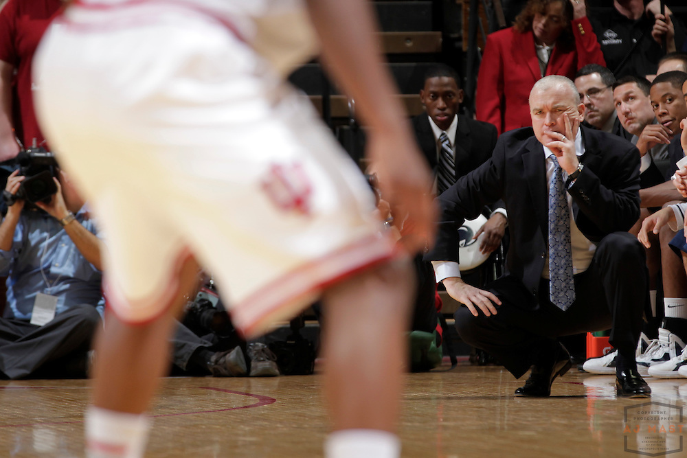 23 January 2013: Penn State head coach Patrick Chambers  as the Indiana Hoosiers played the Penn State Nittnay Lions in a college basketball game in Bloomington, Ind.