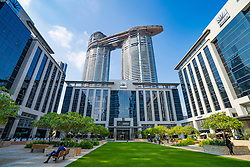 Emaar Square business district in Downtown Dubai, United Arab Emirates