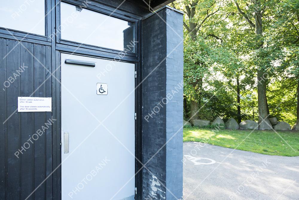 Exterior of door bathroom for disabled
