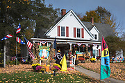 Traditional country store - Flossie's General Store and Emporium at Halloween time, Jackson in New Hampshire, USA