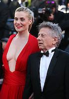 Director Roman Polanski, Actress Emmanuelle Seigner at Venus in Fur - La Venus A La Fourrure film gala screening at the Cannes Film Festival Saturday 26th May May 2013