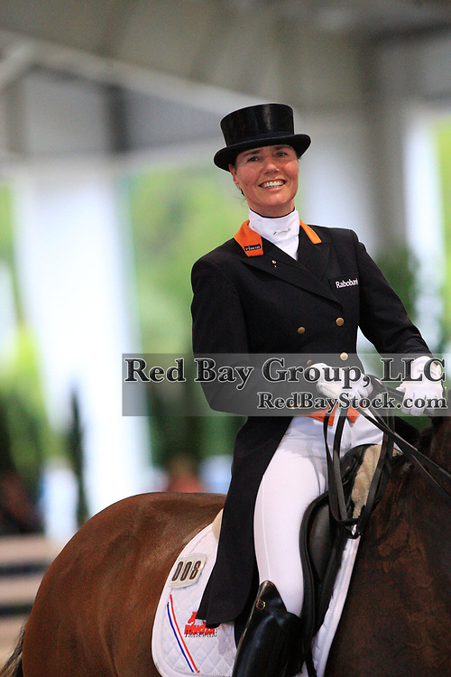 Christa Laarakkers and Ovation at the 2011 World Dressage Masters in West Palm Beach, Florida at the Jim Brandon Equestrian Center.