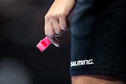 Whistle during hanball match between RK Krim Mercator and Gyori Audi ETO KC of Women's EHF Champions League 2019/20, on October 19, 2019 in Kodeljevo, Ljubljana, Slovenia. Photo by Matic Klansek Velej / Sportida