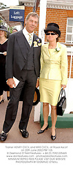 Trainer HENRY CECIL and MRS CECIL, at Royal Ascot on 20th June 2002.PBF 105