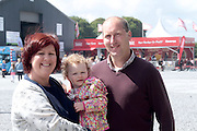 Amy Nestor and Michael Kenny of Kilconly, Galway with their daughter Eva attending 'SHEEP2015', the major National Sheep Open Day hosted by Teagasc at Athenry on Saturday. Photo:- Andrew Downes / xposure.ie  No Fee. Issued on behalf of Teagas