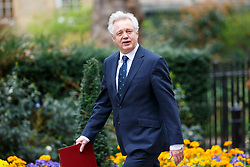 © Licensed to London News Pictures. 14/03/2017. London, UK. Secretary of State for Exiting the European Union DAVID DAVIS attends a cabinet meeting in Downing Street, London on Tuesday, 14 March 2017. Photo credit: Tolga Akmen/LNP