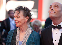 Laurie Anderson and Joshua Oppenheimer; at the opening ceremony and premiere of the film La La Land at the 73rd Venice Film Festival, Sala Grande on Wednesday August 31st, 2016, Venice Lido, Italy.