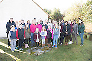 28/03/2016Pictured at Pearse's Cottage, Teach an Phiarsaigh, in Rosmuc in Connemara during a special broadcast of RTÉ Raidió na Gaeltachta programme Adhmhaidin on Easter Monday 28 March 2016.  <br /> <br /> Patrick Pearse used the cottage as a summer house, and also as summer school for his pupils from St Enda's school in Dublin.  He was inspired by the people and the culture of the area, and it is said that he composed the graveside oration he gave at O'Donovan Rossa's funeral in 1915 there.<br /> <br /> The broadcast was to commemorate the centenary of the Easter Rising, and also marked 30 years on air for the programme.  <br /> Photo:Andrew Downes, xposure.