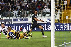 September 1, 2018 - Parma, Italy - Juventus forward Cristiano Ronaldo (7) shoots the ball during the Serie A football match n.3 PARMA - JUVENTUS on 01/09/2018 at the Ennio Tardini in Parma, Italy. (Credit Image: © Matteo Bottanelli/NurPhoto/ZUMA Press)