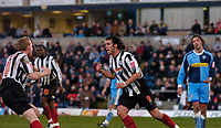 Photo: Alan Crowhurst.<br />Wycombe Wanderers v Grimsby Town. Coca Cola League 2.<br />19/11/2005. <br />Michael Reedy celebrates his goal for Grimsby.