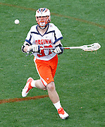 Virginia Cavaliers Ryan Benincasa (37) passes the ball during the game against the Johns Hopkins in Charlottesville, VA. Johns Hopkins defeated Virginia 11-10 in overtime. Photo/Andrew Shurtleff