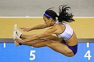 Katarina Johnson-Thompson (Great Britain), Pentathlon, Long Jump, during the European Athletics Indoor Championships 2019 at Emirates Arena, Glasgow, United Kingdom on 1 March 2019.