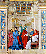The future pope Julius II and Pope Sixtus IV Seated