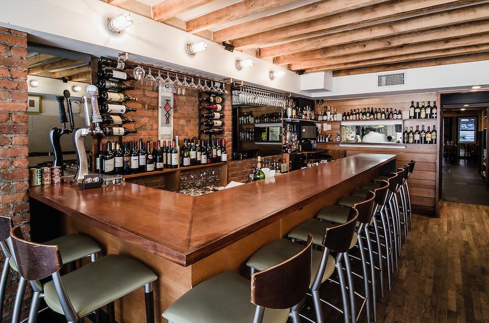 Architectural and Interior Photographs of Wine 30 restaurant in Manhattan New York.