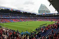GEPA-0706085603 - BASEL,SCHWEIZ,07.JUN.08 - FUSSBALL - UEFA Europameisterschaft, EURO 2008, Schweiz vs Tschechien, SUI vs CZE. Bild zeigt das Stadion in Basel. Keyword: Tribuene, Fans.<br />Foto: GEPA pictures/ Oliver Lerch