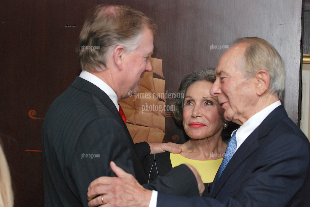 "Dan Quayle, Mrs Greenberg and Maurice R. ""Hank"" Greenberg. Reception at 21 Club NYC 18 Sept 2007 Honoring the endowment of the David Boies Professorship of Law at Yale Law School"