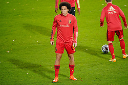 LEUVEN, BELGIUM - Sunday, November 15, 2020: Belgium's Axel Witsel during the pre-match warm-up before the UEFA Nations League Group Stage League A Group 2 match between England and Belgium at Den Dreef. Belgium won 2-0. (Pic by Jeroen Meuwsen/Orange Pictures via Propaganda)