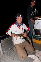 George Cook With Crocodile