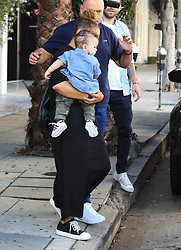 Janet Jackson and her son Eissa go to lunch at The Ivy in Hollywood, CA.