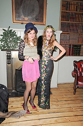 Left to right, BENEDICTE WILHELMSEN and ANOUSHKA BECKWITH at a party to celebrate the 1st anniversary of Alice Temperley's label held at Paradise, Kensal Green, London W10 on 25th November 2010.