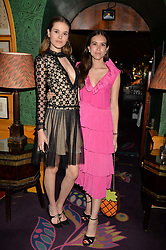 Left to right, Frankie Herbert and Natalie Salmon at the Annabel's Bright Young Things Party at Annabel's, Berkeley SquareLondon England. 8 June 2017.<br /> Photo by Dominic O'Neill/SilverHub 0203 174 1069 sales@silverhubmedia.com