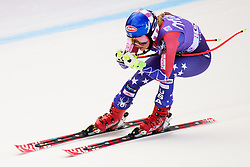 January 19, 2018 - Cortina D'Ampezzo, Dolimites, Italy - MIKAELA SHIFFRIN of United States of America competes  during the Downhill race at the Cortina d'Ampezzo FIS World Cup in Cortina d'Ampezzo, Italy. Shiffrin finished in 3rd place. (Credit Image: © Rok Rakun/Pacific Press via ZUMA Wire)