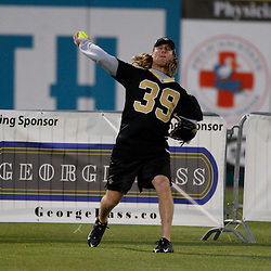 Apr 28, 2010; Metairie, LA, USA; Chris Reis (39) throws the ball from the outfield during the Heath Evans Foundation charity softball game featuring teammates of the Super Bowl XLIV Champion New Orleans Saints at Zephyrs Field.  Mandatory Credit: Derick E. Hingle-US-PRESSWIRE.
