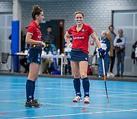 ROTTERDAM -  Lieke van Wijk dames Hurley-Oranje Rood, Hurley plaatst zich voor halve finales NK  ,hoofdklasse competitie  zaalhockey.   COPYRIGHT  KOEN SUYK