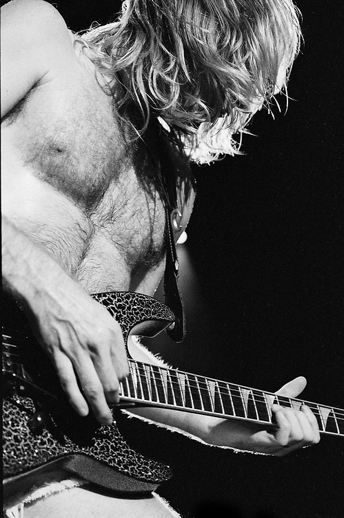 ALLENTOWN - AUGUST 03: Phil Collen of Def Leppard performs on August 03, 1993 in Allentown, Pennsylvania. ©Lisa Lake