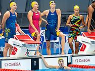 SJOESTROEM Sarah SWE, COLEMAN Michelle SWE, HANSSON Louise SWE, JUNEVIK Sara SWE<br /> 4x100 Freestyle Relay Women Heats<br /> Swimming, Nuoto<br /> Tokyo2020 Olympic Games<br /> Tokyo Aquatics Centre<br /> 21724<br /> Photo Giorgio Scala / Deepbluemedia / Insidefoto