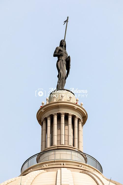 Oklahoma State Capitol Dome on Sunday, September 13, 2020. Photo copyright © 2020 Alonzo J. Adams.