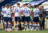 Preston North End's manager Alex Neil coaches his side during a drinks break<br /> <br /> Photographer Andrew Kearns/CameraSport<br /> <br /> The EFL Sky Bet Championship - Preston North End v Nottingham Forest - Saturday 11th July 2020 - Deepdale Stadium - Preston <br /> <br /> World Copyright © 2020 CameraSport. All rights reserved. 43 Linden Ave. Countesthorpe. Leicester. England. LE8 5PG - Tel: +44 (0) 116 277 4147 - admin@camerasport.com - www.camerasport.com