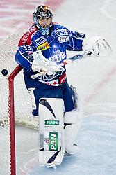 Robert Kristan (KHL Medvescak Zagreb, #33) during ice-hockey match between KHL Medvescak Zagreb and HK Acroni Jesenice in 39th Round of EBEL league, on Januar 8, 2012 at Arena Zagreb, Zagreb, Croatia. (Photo By Matic Klansek Velej / Sportida)