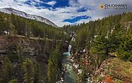 Falls Creek Falls along the Rocky Mountain Front near Augusta, Montana, USA