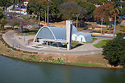 Belo Horizonte_MG, Brasil.<br /> <br /> Igreja Sao Francisco de Assis (Igreja da Pampulha), projetada por Oscar Niemeyer na Pampulha em Belo Horizonte, Minas Gerais.<br /> <br /> Sao Francisco de Assis church (Igreja da Pampulha) designed by Oscar Niemeyer in Pampulha, Belo Horizonte, Minas Gerais.<br /> <br /> Foto: RODRIGO LIMA / NITRO.