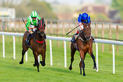 Seafarer ridden by Martin Dwyer and trained by Marcus Tregoning in the Andersons Waste Handicap race. Bayshore Freeway ridden by Franny Norton and trained by Mark Johnston in the Andersons Waste Handicap race.  - Mandatory by-line: Ryan Hiscott/JMP - 01/05/2019 - HORSE RACING - Bath Racecourse - Bath, England - Wednesday 1 May 2019 Race Meeting