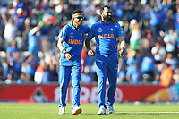 Cricket - 2019 ICC Cricket World Cup - Group Stage: India vs. Afghanistan<br /> <br /> Yuzvendra Chahal of India on the left with Mohammed Shami on the right celebrate together at the Hampshire Bowl, Southampton.<br /> <br /> COLORSPORT/SHAUN BOGGUST
