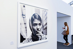 """London, UK.  17 May 2017.  """"Helena Christensen"""", New York, 1996, by Anton Corbijn.  Preview of Photo London 2017 at Somerset House.  Held for the third time, the event showcases the best in contemporary photography, from 89 galleries from 16 different countries, for collectors and enthusiasts and will be on from 18 - 21 May. Credit: Stephen Chung / Alamy Live News"""