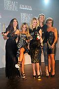 Beau Monde Awards 2012 in het Amstel Hotel, Amsterdam.<br /> <br /> Op de foto:  (VLNR) De winnaars van de Beau Monde Awards 2012: Yolanthe Sneijder-Cabau (Cover Girl Award), Sylvie van der Vaart (Style Award), Nikki Plessen (Leco Look Award), Frederique van der Wal en Leontien van Moorsel (Make-over Award).