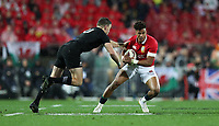 Rugby Union - 2017 British & Irish Lions Tour of New Zealand - Second Test: New Zealand vs. British & Irish Lions<br /> <br /> Anthony Watson of The British and Irish Lions and Beauden Barrett of The All Blacks at Westpac Stadium, Wellington.<br /> <br /> COLORSPORT/LYNNE CAMERON