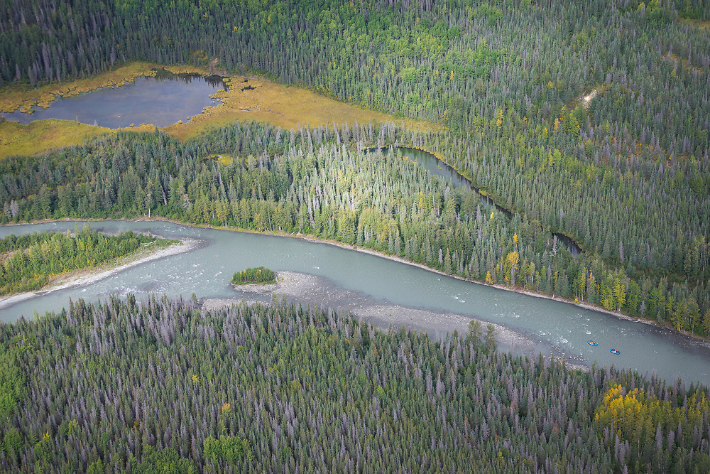 Darren Berrecloth, along with Wade Simmons, Tyler McCaul, Carson Storch and their guide Mike Neville float down the Tatshenshini River in the Tatshenshini-Alsek Provincial Park in British Columbia, Canada on September 1, 2016.
