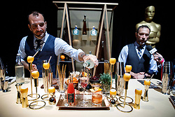Charles Joly, Master Mixologist (Creator of Don Julio Signature cocktails) and Andy Seymour of Liquid Productions during the Academy's Governors Ball preview for the 91st Oscars® on Friday, February 15, at the Ray Dolby Ballroom in Hollywood.