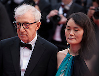 Director Woody Allen and Soon-Yi Previn at the gala screening for Woody Allen's film Café Society at the 69th Cannes Film Festival, Wednesday 11th May 2016, Cannes, France. Photography: Doreen Kennedy